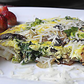Healthy Kale Mushroom Frittata.