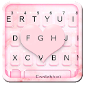 Pink Marble Heart Keyboard Theme icon
