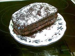 Photo: My first cake (with delicious chocolate)-from my Nokia E61i
