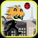Chibi Black Cat Shinobi Runner icon