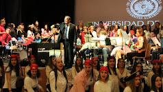 Muñoz, al frente de la Banda de Música de la UAL.