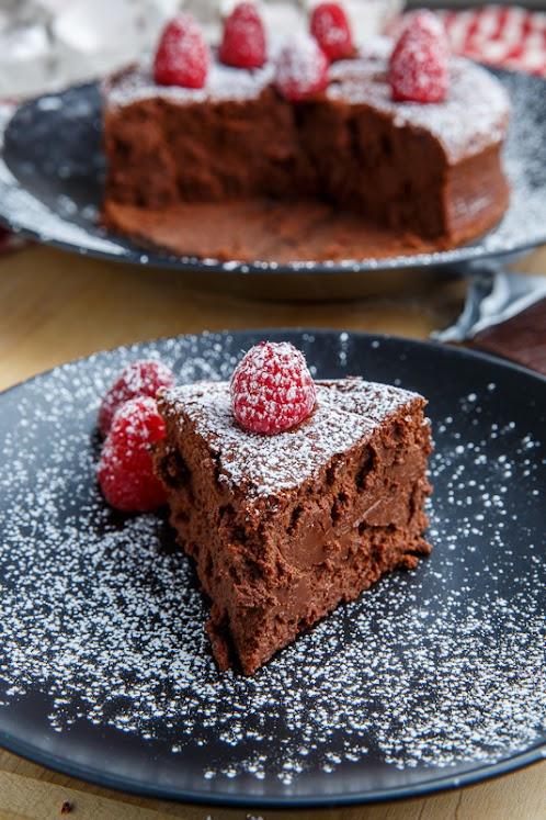 Dark Chocolate Souffle Cheesecake