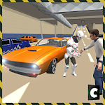 Car Robot Valet Mall Parking Icon