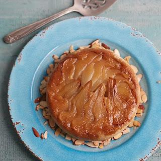 Jill Nussinow's Pear Almond Upside Down Cake.