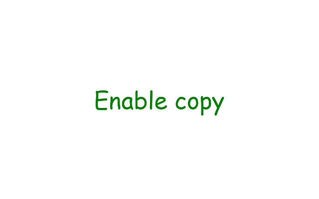 Enable Copy