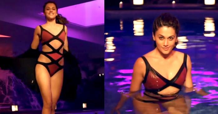 Taapsee Pannu in Movie Judwaa 2, Taapsee Pannu in Bikini, Taapsee Pannu Bikini in Judwaa 2