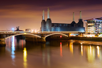 Photo: Evening at Battersea Power Station - London, UK.  If you ask me, not only the touristy and postcard landmarks of London, but almost everything in the city is photographic, including this old Power Station located on the south bank of the Thames.  The Battersea Power Station is a decommissioned coal-fired power station has two individual power stations, built in two stages in the form of a single building, the first one built in the 1930s and the second in the 1950s.The two stations were built to an identical design, providing the well known four-chimney layout. The station ceased generating electricity in 1983, but over the past 50 years it has become one of the best known landmarks in London.  You might also have recognized it in The Beatles' 1965 movie Help! or in the cover of Pink Floyd's 1977 album Animals.
