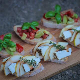 Goat Cheese-Thyme Bruschetta.