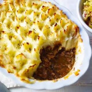 Roux Family Shepherd's Pie With Stir-fried Cabbage.
