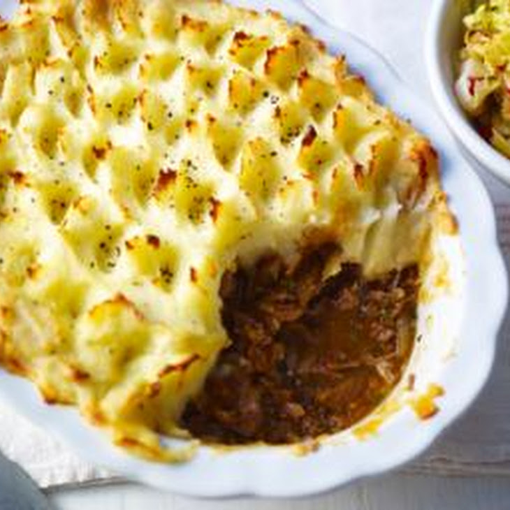 Roux Family Shepherd'S Pie with Stir-Fried Cabbage Recipe