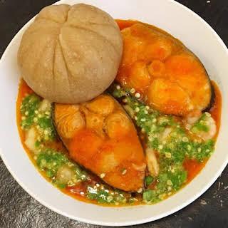 Fresh Fish Okra Soup.