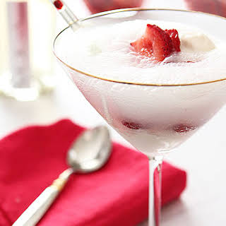 Strawberry and Prosecco Float.