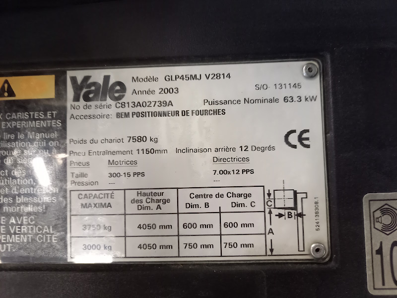 Picture of a YALE GLP45MJ