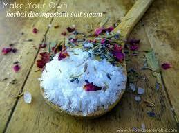 Herbal Decongestant Salt Steam Recipe