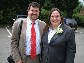 Photo: Best man and Floozy. The floozy is on the left.