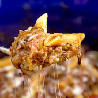 Slow Cooker Sausage & Eggplant Baked Ziti