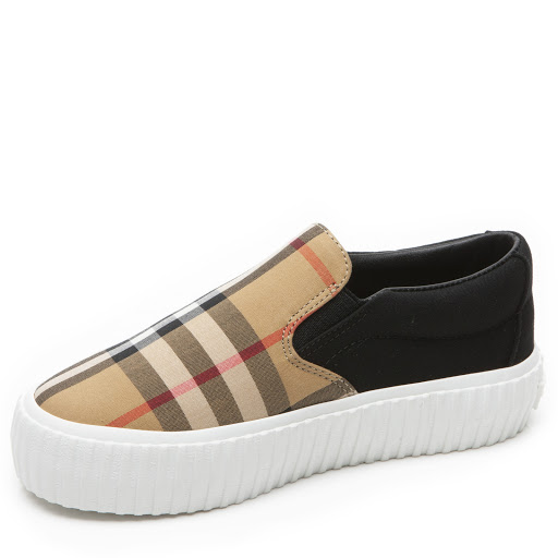 Thumbnail images of Burberry Check Canvas Trainer