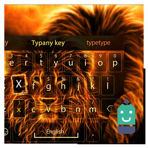Flame Lion Theme Keyboard
