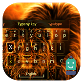 Flame Lion Theme Keyboard