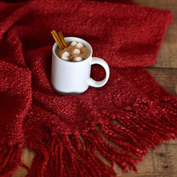 Photo of the American Country Home Store recommended Fall red throw blanket