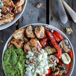 California Chicken, Veggie, Avocado and Rice Bowls Recipe