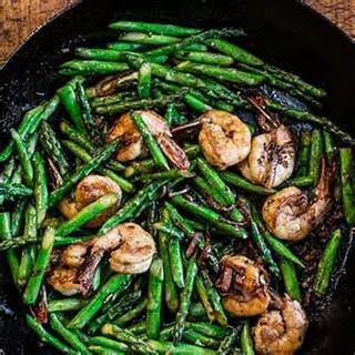 Shrimp and Asparagus Stir Fry.