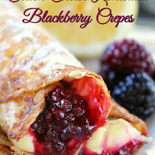 Cream Cheese Lemonade Blackberry Crepes.