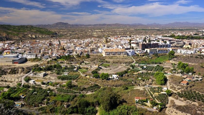 Vista general del municipio de Huércal-Overa.