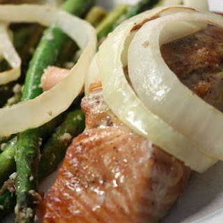 Bourbon Salmon and Asparagus.