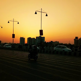 LUCKNOW EVENING by Ayush YA Vishnoi - City,  Street & Park  Street Scenes