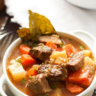 Healthier Slow Cooker Beef Stew.