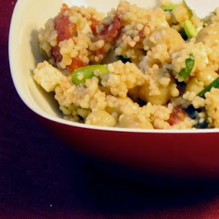 Couscous with Chickpeas, Tomato, and Edamame Recipe