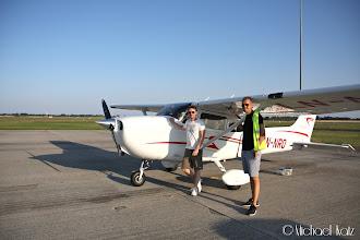 Photo: Ola, Anders og LN-NRO på Roskilde Lufthavn.