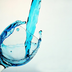 Pour by Brian Wilson - Food & Drink Alcohol & Drinks ( wine, water, stop, white, d3200, beauty, liquid, blue, freeze, shutter, drops, pour, glass, nikon, fast, motion )
