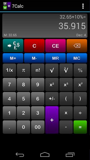 7Calc Calculator Free