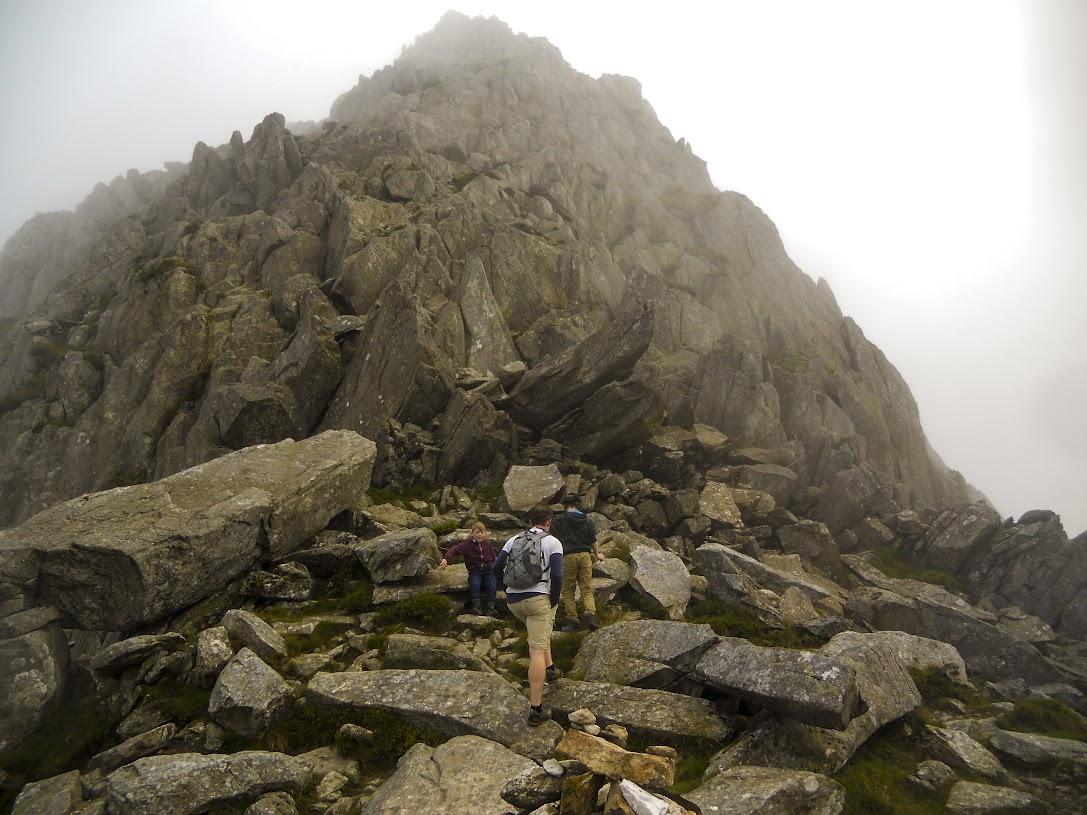The north ridge of Tryfan