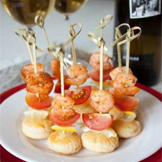Shrimp Canape with Tomatoes