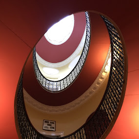 Towards the light by Vicki Clemerson - Buildings & Architecture Architectural Detail ( railings, window, dome, domed window, roof window, landings, painted ceilings, light,  )