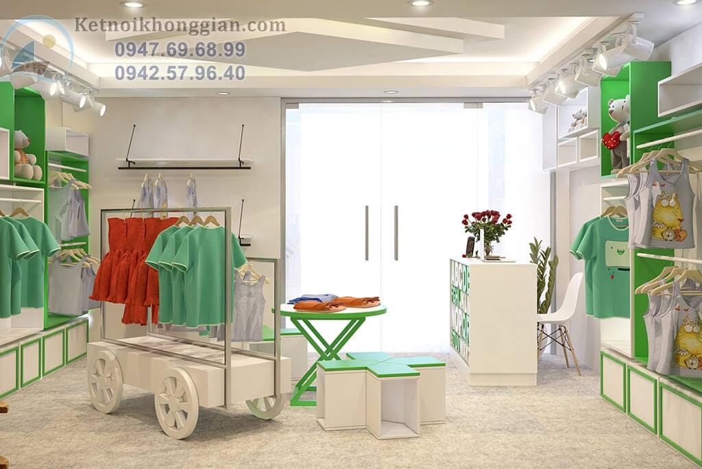 thiết kế cửa hàng thời trang trẻ em chuyên nghiệp
