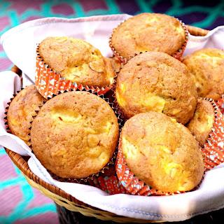 Peach Almond Muffins.