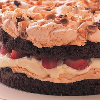 Choc-strawberry Meringue Gâteau