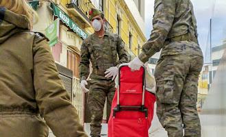 En imágenes: la ayuda de la Legión en Almería