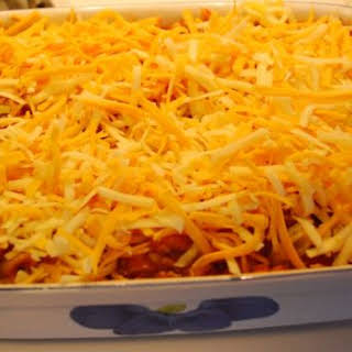 Easy, Cheesy Amish Pizza Casserole.