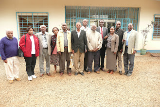 Photo: Meeting of stakeholders held at the Mwea Irrigation Scheme, Aug.18, 2009, to formally launch the evaluation and demonstration of SRI in Kenya. The meeting was organized by Bancy Mati, program manager of the IMAWESA Network and Jean Njiru [Photo Courtesy of Bancy Mati]