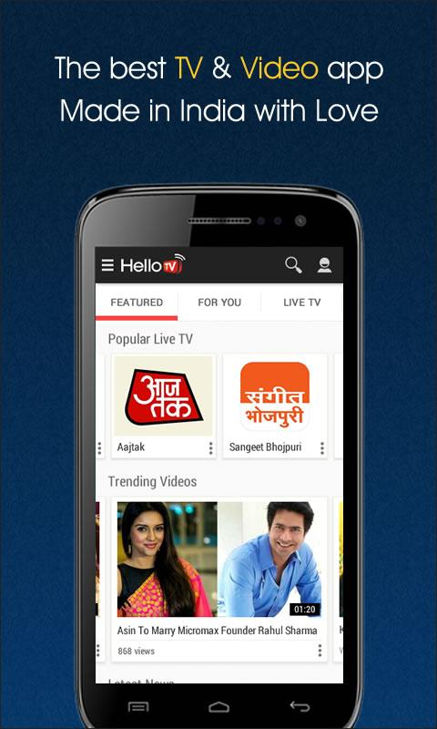 HelloTV  - Live TV | Videos | Movies- screenshot
