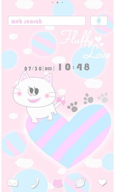 Cute Theme Fluffy Love Android App Screenshot