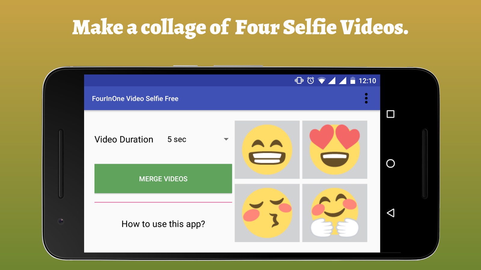 FourInOne Video Selfie FREE- screenshot