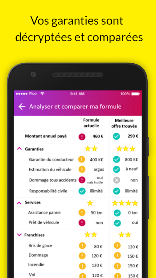 Fluo, optimisateur d'assurance- screenshot