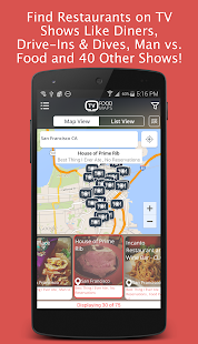 Restaurants on TV Trip Planner- screenshot thumbnail
