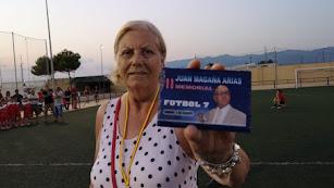 Mari Carmen Milán, la viuda de Magaña.